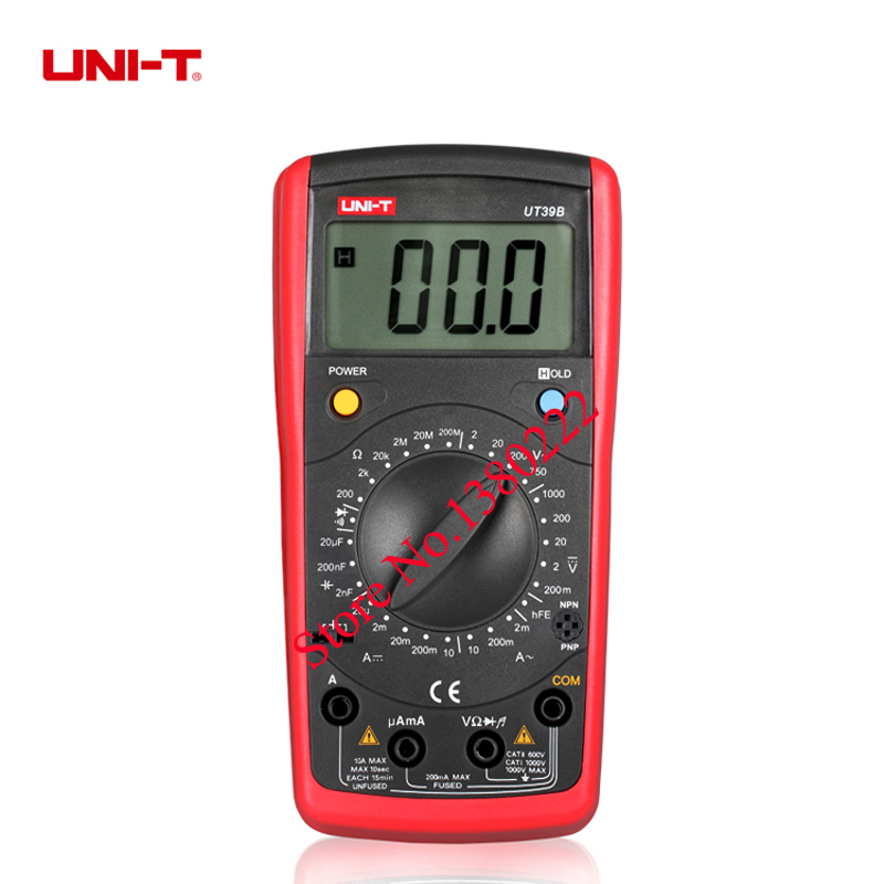 UNI-T UT39B Handheld Digital Multimeters , digital meter w/ Inductance & Temperature Test  LCR Meter uni t ut30c original authentic data handed hold digital multimeters temperature test