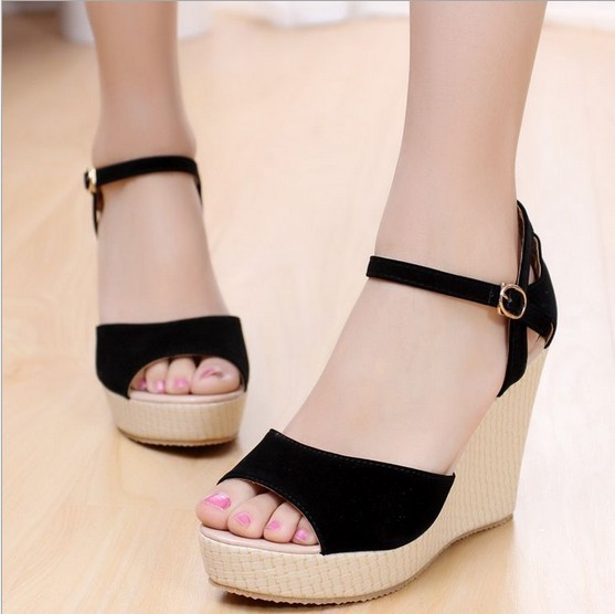 Women sandals,Fashion sandals,wedge heels sandals ,Peep toe ...