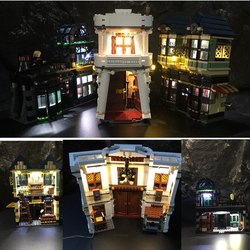 Led Light Kit  For  10217 /16012  Diagonal Alley building blocks bricks ( the blocks set not included)