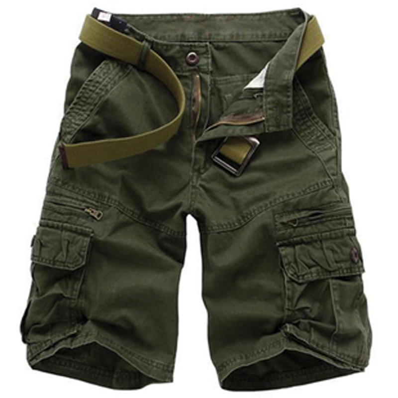 Hip pop Military Army Combat 5 Colors Men's Cargo Shorts Size 28-40 Multi pockets Gray Green Black