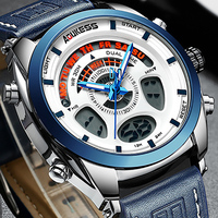 Relogio Masculino Digital relojes Men Sports Watches Leather Automatic Date Quartz Watches Mens Luxury Brand Waterproof Military