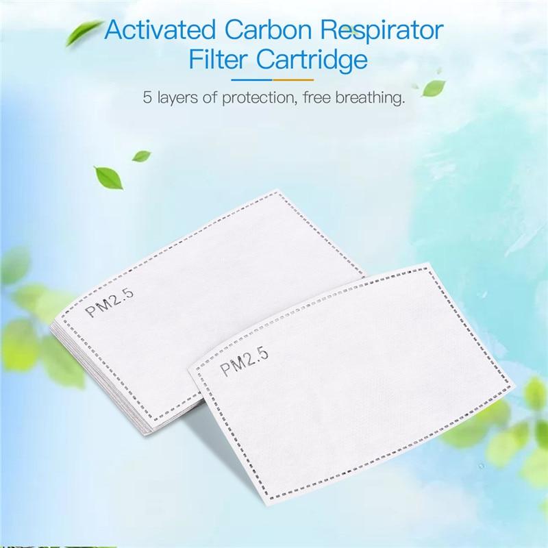 PM 2.5 Mouth Mask Replacement Filter Anti Haze Mouth Cover Replacement Filter Active Carbon Filter For Mount Mask 10 Or 20 Pcs