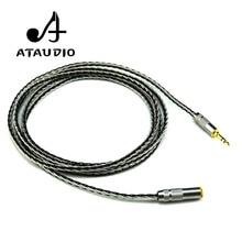 ATAUDIO Hifi мм 3,5 мм аудио удлинитель Высокое качество посеребренные мм 3,5 мм стерео мужчин и женщин кабель для наушников