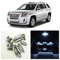 10Pcs Xenon White LED Lights Bulbs Interior Package Kit For 2010 2015 GMC Terrain Map Dome