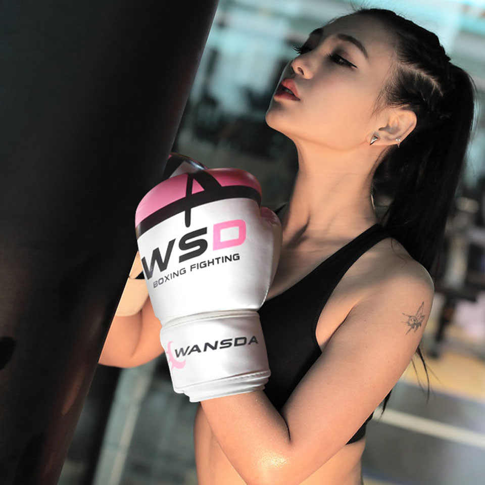 Gobygo Tinju Sarung Tangan untuk Pria Wanita Pu Karate Muay Thai Guantes De Tinju Gratis Melawan MMA Sanda Latihan Orang Dewasa anak-anak Peralatan