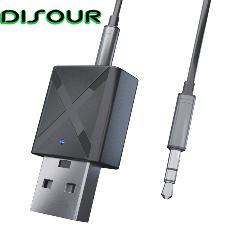 KN320 2 In 1 5.0 Bluetooth Receiver Transmitter 3.5mm AUX USB Stereo Muisc Wireless Bluetooth Adapter For Car TV PC High Quality