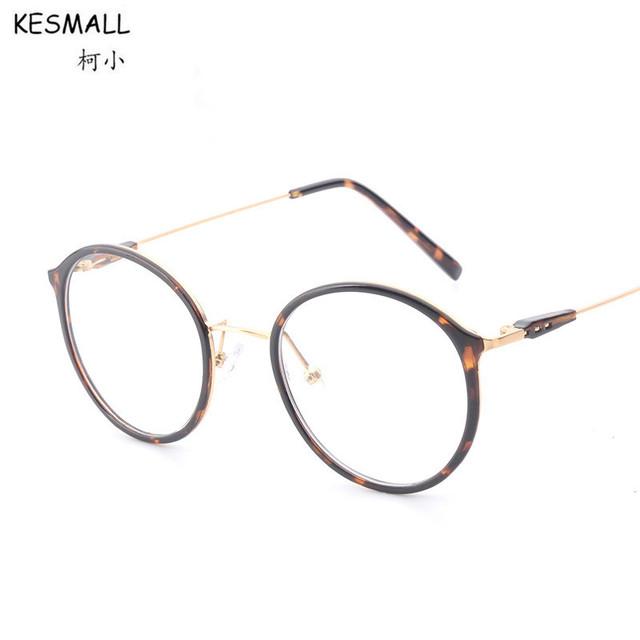 2017 Retro Vidros Ópticos Quadro Mulheres Homens Óculos Quadros Leopardo Design de Moda Senhoras Óculos de Armação Oculos Eyewear RB113