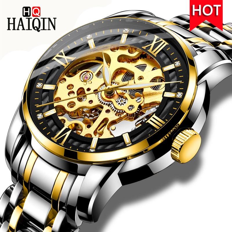 HAIQIN Men's Watches 2019 Top Luxury Fashion Machinery / Automatic / Waterproof / Sports / Leisure / Watch Men All Steel Clock