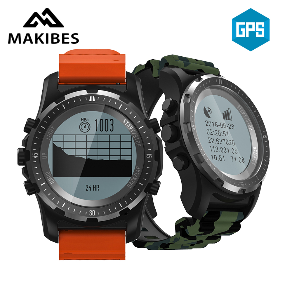Original Makibes BR2 GPS Compass Multi sport Smart Watch Heart Rate Fitness Health Tracker Smart Bracelet