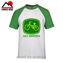 Camiseta de ciclismo de montaña 2019, ropa de marca LC, camiseta con logotipo de bicicletas, camiseta verde de manga corta respetuosa con el medio ambiente
