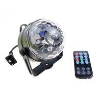 Новый Magic Цвет led хрустальный магический шар 3 Вт мини rgb Сценическое освещение лампы Party дискотека KTV DJ Light покажите нам/ЕС Plug