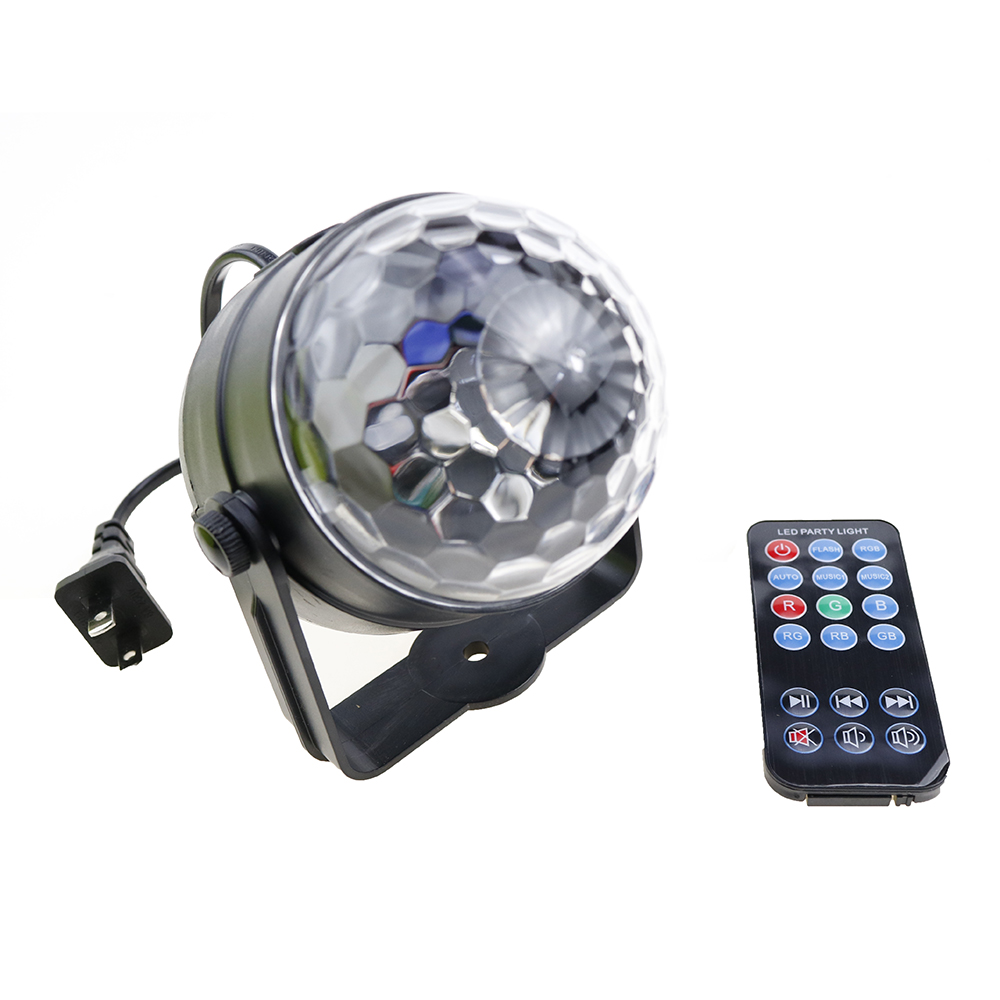 New Magic Color LED Crystal Magic Ball 3W Mini RGB Stage Lighting Effect Lamp Bulb Party Disco Club KTV DJ Light Show US/EU Plug mini rgb led crystal magic ball stage effect lighting lamp bulb party disco club dj light show lumiere