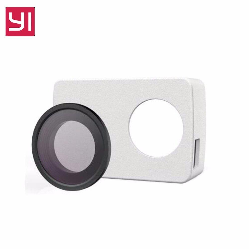 D'origine Protecive Lentille PU En Cuir UV Cas Pour Yi 4 k/4 k Plus + Lite Camera Action Sport cam Kamera Extérieure Xiaoyi Accessoires