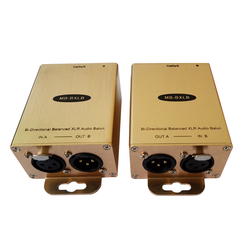 Bi-Directional AES/EBU Analog XLR Audio Analog Balanced Audio Extender Over Cat5e/6