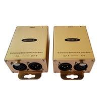 Bi Directional AES EBU Analog XLR Audio Analog Balanced Audio Extender Over Cat5e 6