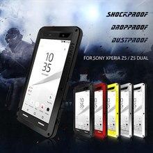 Любовь Мэй для Sony Z5 Гибридный dropproof телефон случае полной защиты чехол для Sony Xperia Z5 двойной мощный смартфон открытый Coquille