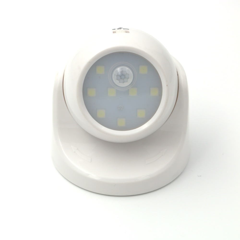 LightInBox Childrens Nightlight Auto PIR IR Infrared Detector Lamp LED Led Motion Sensor Night Light 360 Degree Rotation