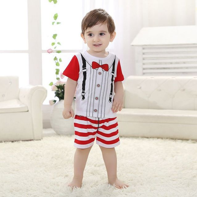 new 2015,summer clothing set,baby boy clothes,kids clothes,short baby set Free shipping