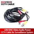 10 М 33FT CCTV Кабель BNC Питание Аудио Кабель Для Камеры BNC RCA ВИДЕОНАБЛЮДЕНИЯ Кабель