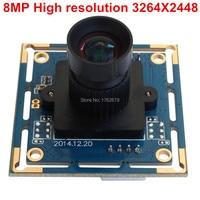 2pieces 8mp 3264X2448 MJPG 15fps Sony 1 3 2 Sensor Mini High Definition Usb Camera Webcam