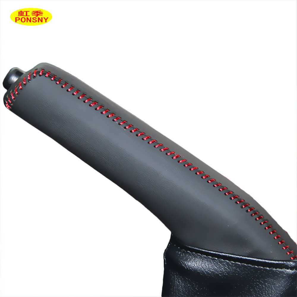 PONSNY Car Handbrake Covers Case For TOYOTA RAV4 2013-2016 Genuine Leather Car-styling Auto Handbrake Grips Cover