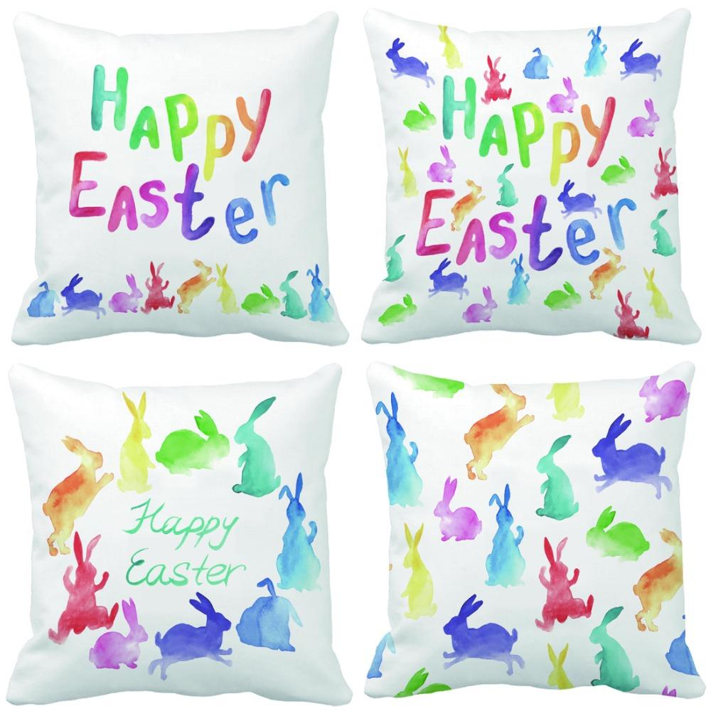 Custom Creative: Happy Easter Colorful Rabbit Print Custom Creative