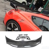 for Porsche 981 GT4 2013 2015 Carbon Fiber Rear Wing Tail Spoiler Splitter