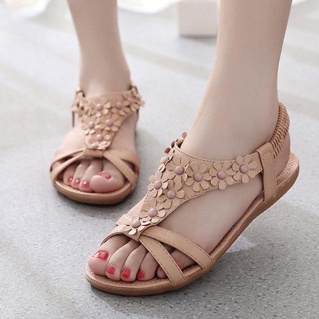 Women Sandals Fashion Women Summer Shoes Women Flats Sandals Woman Beach Shoes Ladies Shoes Flowers