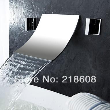 Efektní nástěnná vodopádová umyvadlová baterie