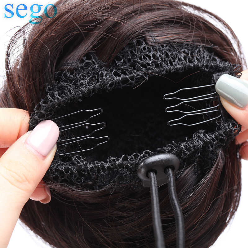 SEGO Malaysia Human Hair Donut Chignon For Woman Straight Non-Remy Hair Pieces Pure Color 100% Human Hair 7 Colors Avaliable