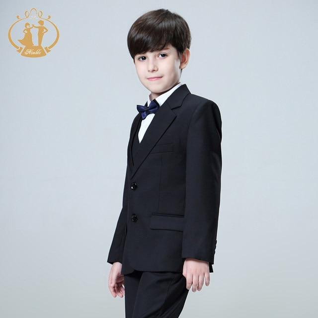 Online Shop 5pcs/Set Boys Suits For Weddings Kids Prom Suits Black ...