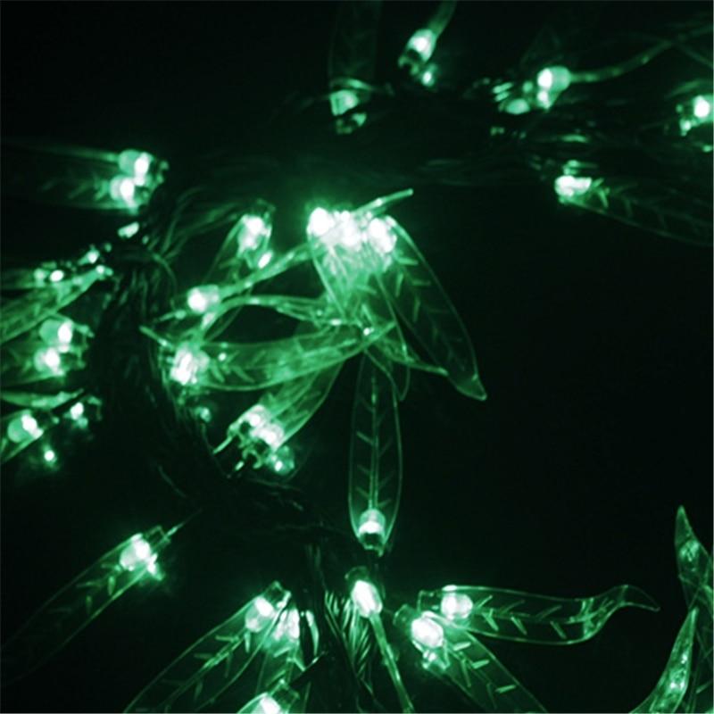 10 მ სიმებიანი LED ფოთლის - სადღესასწაულო განათება - ფოტო 4