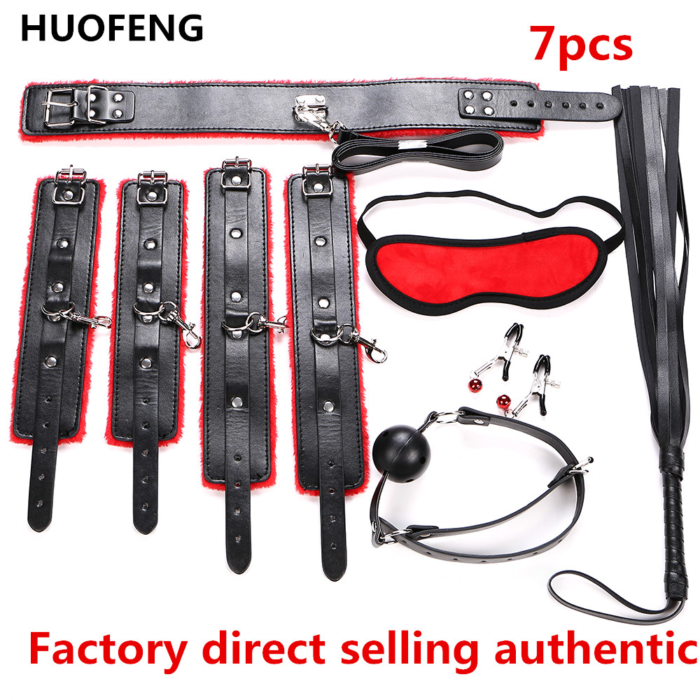 2017 Sex sm Furniture Bondage Restraints Kit Adult Games Sex Toys for Couple Handcuffs Mark Whip Collar Sex Product Erotic Toys