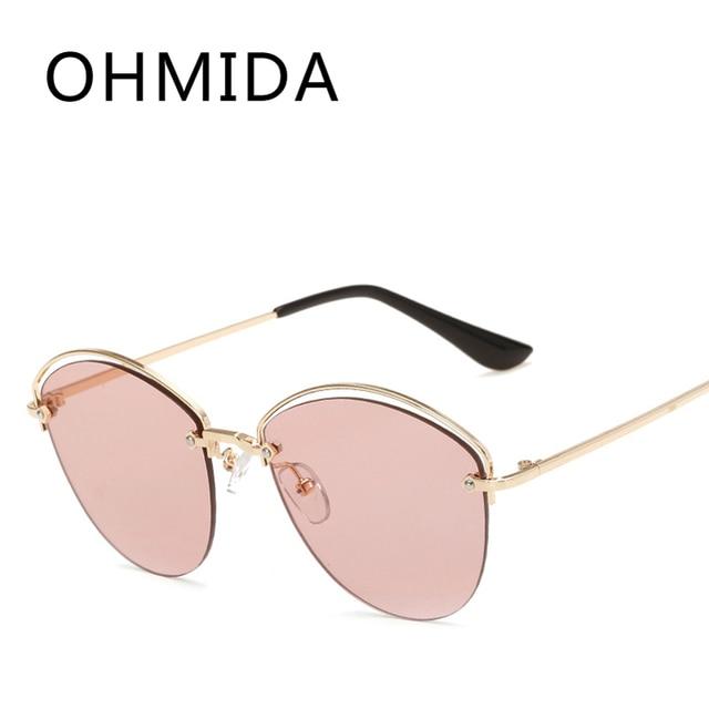 photos officielles 2ab4d 53828 € 8.8 |OHMIDA Pilote Marque De Luxe lunettes de Soleil Femmes 2017 Nouvelle  Mode UV400 rose Lunettes de Soleil Pour Femmes Rétro Vintage lunette de ...