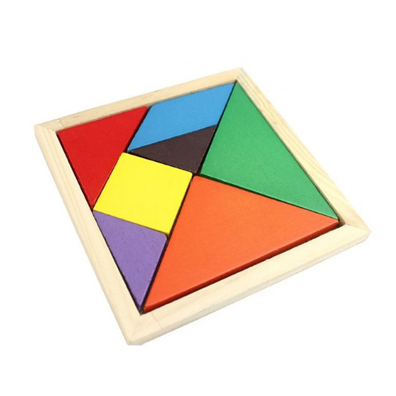 Нежная детская игрушка Геометрия деревянные головоломки Развивающие игрушки доска DIY Tangram Мадера Игрушечные лошадки для детей Детский пазл