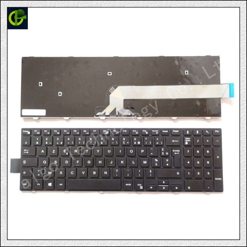 French Azerty Keyboard for <font><b>DELL</b></font> Latitude 3550 3560 3570 <font><b>3580</b></font> 3588 Inspiron 3555 3552 5566 5559 Vostro 15 3549, 3565 3567 3568 FR image
