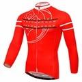 XINTOWN Neue Männer Frauen Langarm Radfahren Jersey Rot Frühling Herbst Langen Ärmeln MTB Road Wear Rutsche Bord Radfahren Kleidung-in Rad-Trikots aus Sport und Unterhaltung bei