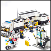 Factory Price 511Pcs Building Blocks Toy Police Station DIY Assemble Figure Educational Brick Brinquedos For Kids