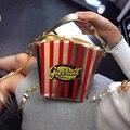 In Promotion Pu Messenger Bags Cashmere The Spring Of 2016 New Handbag Korean Fringe Popcorn Bucket Bag Chain Small Shoulder