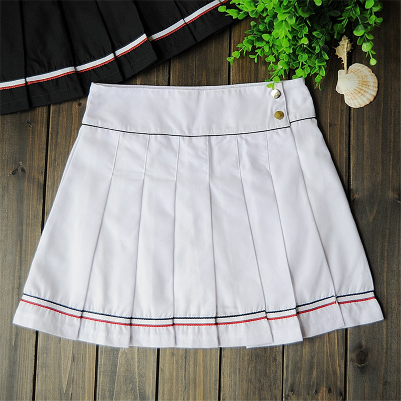 47881abf9 College Style Sports Skirt Female Pleated Tennis Skirt Sportswear Skort  Games Skirts for Girls with Safety
