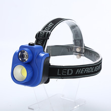 Mini Waterproof COB LED Headlamp, Outdoor Flashlight 3 Modes Head Lamp, Light Torch for Night Fishing Use