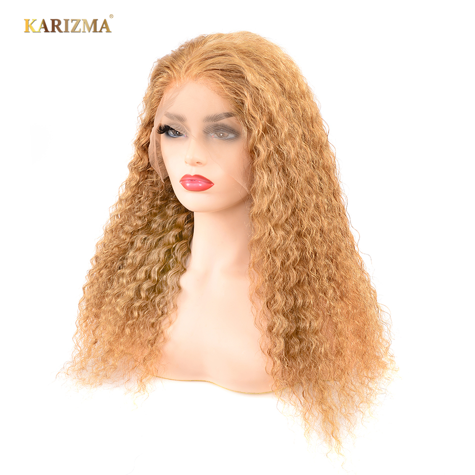 13X4 Wigs #27 Brazilian Deep Wave Wig Lace Front Human Hair Wigs With Baby Hair Natural Hairline Bleached Knots Remy Wigs