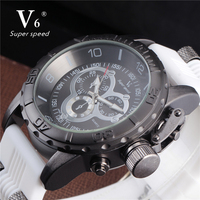 นาฬิกาผู้ชายV6ยี่ห้อยางวงดนตรีกองทัพทหารนาฬิกาผู้ชายควอตซ์ชั่วโมงนาฬิกานาฬิกากีฬานาฬิก...
