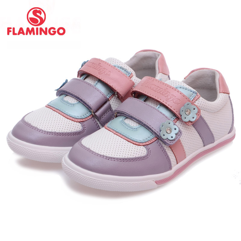 FLAMINGO 100% Russian Famous Brand 2016 New Arrival Spring & Autumn Kids Fashion High Quality shoes 61-XP130