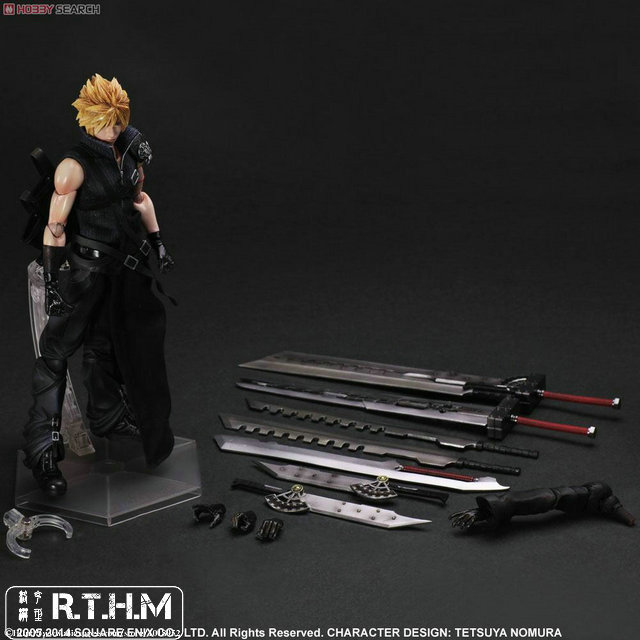 FINAL FANTASY VII ADVENT CHILDREN PLAY ARTS Kai Cloud Strife super hero action figure final fantasy type 0 hd