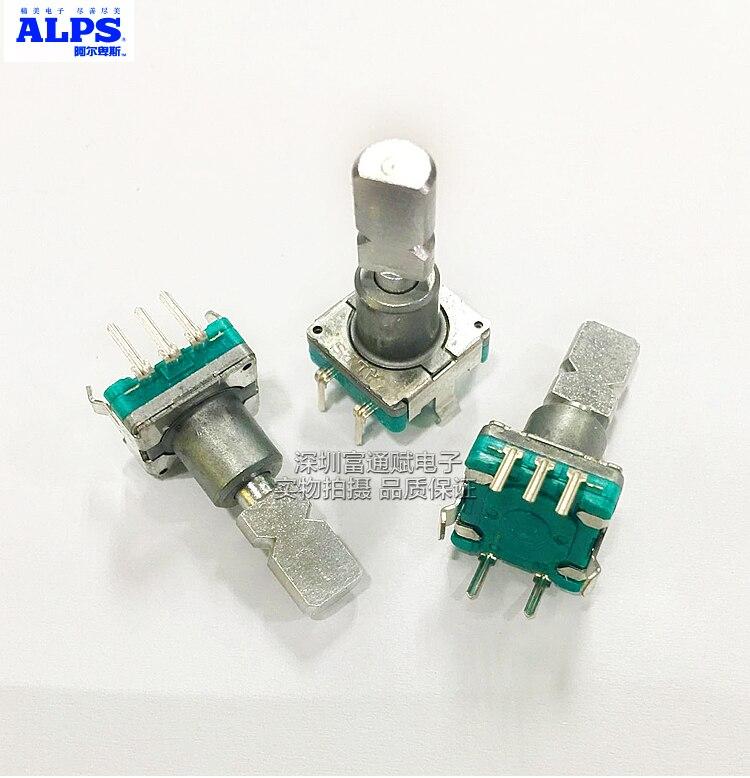 Japan ALPS encoder EC11E15244C2 360 degrees rotate 30 bit 15 pulse code switch 19 half axis
