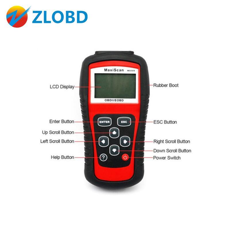 Цена за Zolizda супер качество многофункциональный Autel MS 509 код читателя OBDII/EOBD/OBD2 MaxiScan MS509 код сканер с бесплатной доставкой;