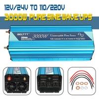 UPS inverter Max 6000W 12/24V to 110V/220V Pure Sine Wave Inverter +Charger power supply with USB Charger for Home inverter