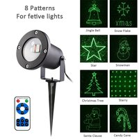 8 Patterns Outdoor Laser Light Red And Green Waterproof Star Projector Laser Landscape Projector Firefly Landscape