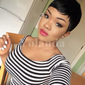 Very Short Human Pixie Cut Hair Wigs With Baby Hair Brazilian Black Hair Wigs For Black Women Glueless Full Lace Pixie Hair Wigs